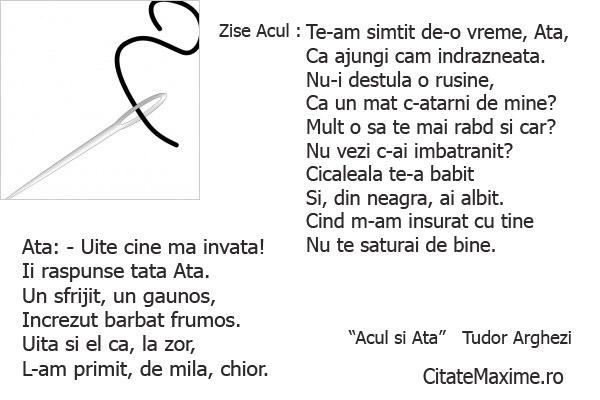 """Zise Acul : Te-am simtit de-o vreme, Ata, Ca ajungi cam indrazneata.""  #CitatImagine de Tudor Arghezi  Iti place acest #citat? ♥Like♥ si ♥Share♥ cu prietenii tai.  #CitateImagini: #Dragoste #Iubire #Amuzante #Relatii #Casatorie #AutorRoman #Reprosuri #TudorArghezi #romania #quotes  Vezi mai multe #citate pe http://citatemaxime.ro/"