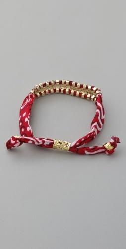 DIY idea:)Fabric bracelet with silver beads