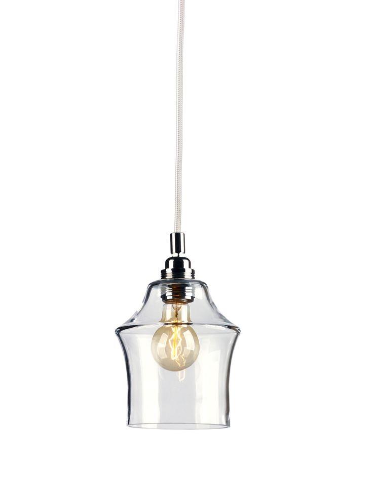 KASPA :: Lampa wisząca Longis II - biały przewód