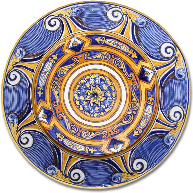 7102 Portuguese Plate Tiles Spanish Antique Majolica Designs XV SEVILLE DIAMOND POINT 17in Please, ask for more information  Worldwide shipping included!  Price: $649.00