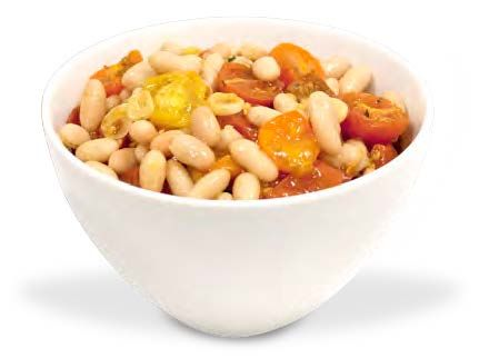 White Beans with Roasted Cherry Tomatoes - the picture may not be the most appetizing but my sister said this was so yummy!