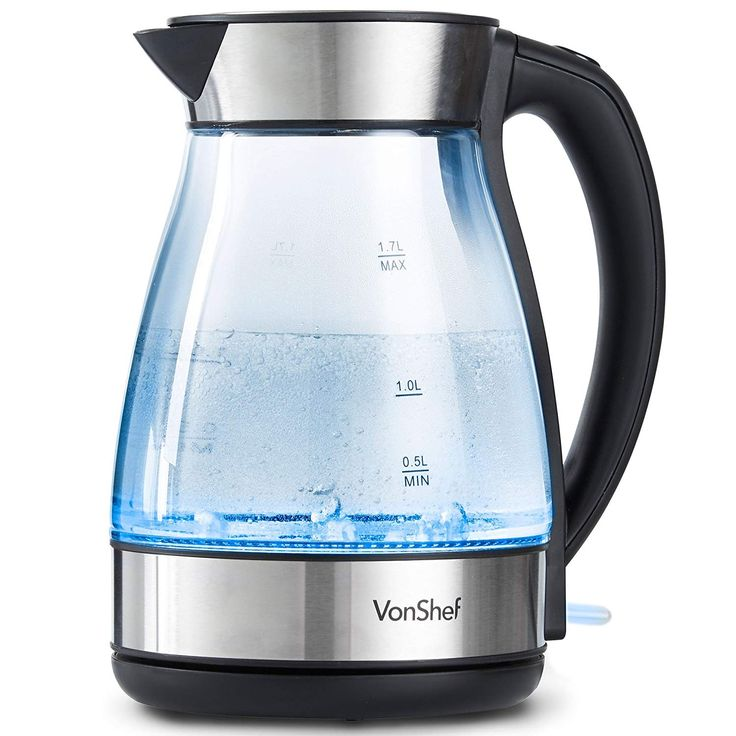 OCDAY Kettle 1500W Electric Cordless Jug Filter Fast Boil LED Illuminated Home
