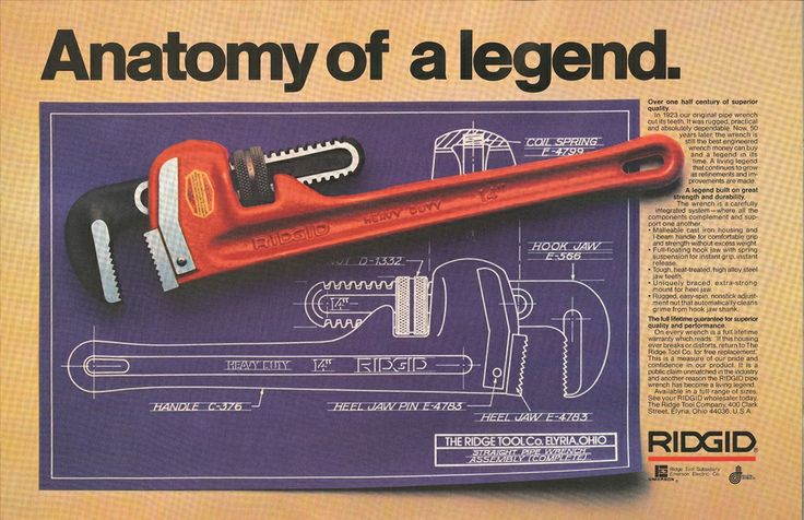 Anatomy of a legend!: Ridgid Products, Awesome Stuff