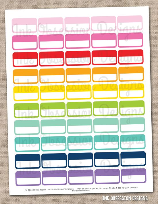 Best Ink Obsession Printable Planner Stickers Images On