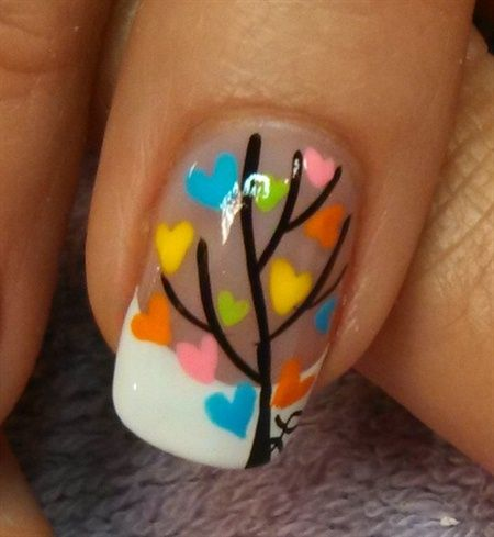 Love Grows On Trees By Aliciarock Nail Art Gallery Nailartgallery