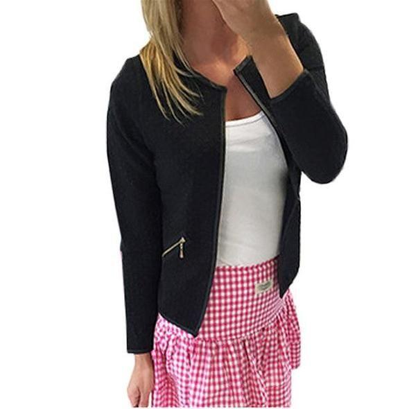 Women Autumn Winter Pockets Long Sleeve Cardigan Slim Fit Long Coat Clever
