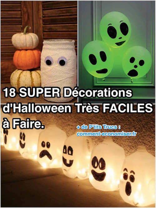 18 SUPER Décorations d'Halloween Très FACILES à Faire.