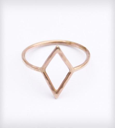 Gold kite ring