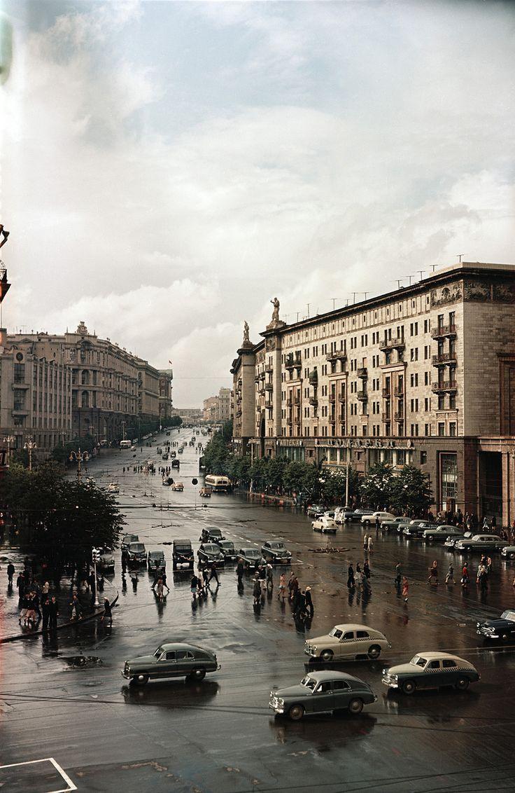 50-е. Москва. Улица Горького