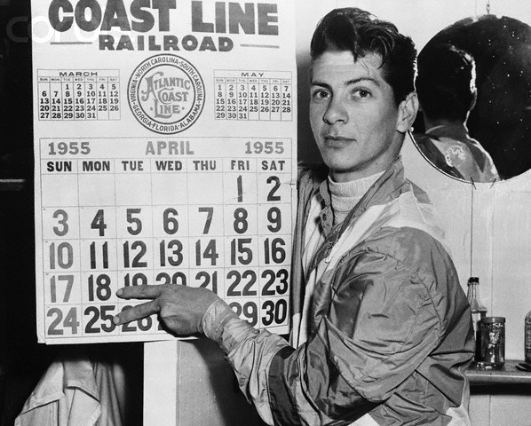Bill Hartack April 1955.  Most wins by a jockey in a given year.