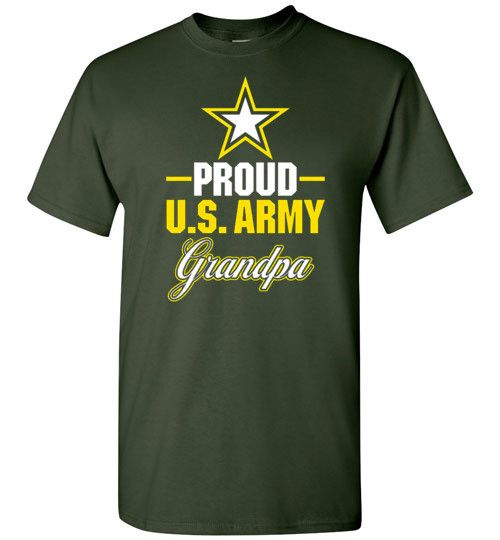 "Men's Army Grandpa T-Shirt ""Proud US Army Grandpa"""