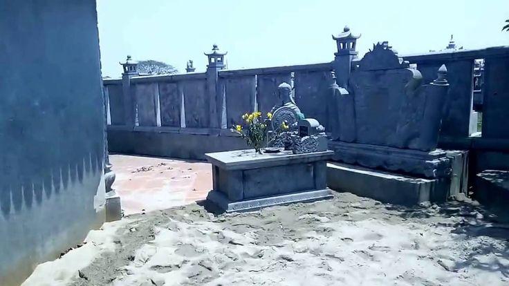 Lăng mộ đá hoa cuơng granite xanh đen đẹp Ninh Bình
