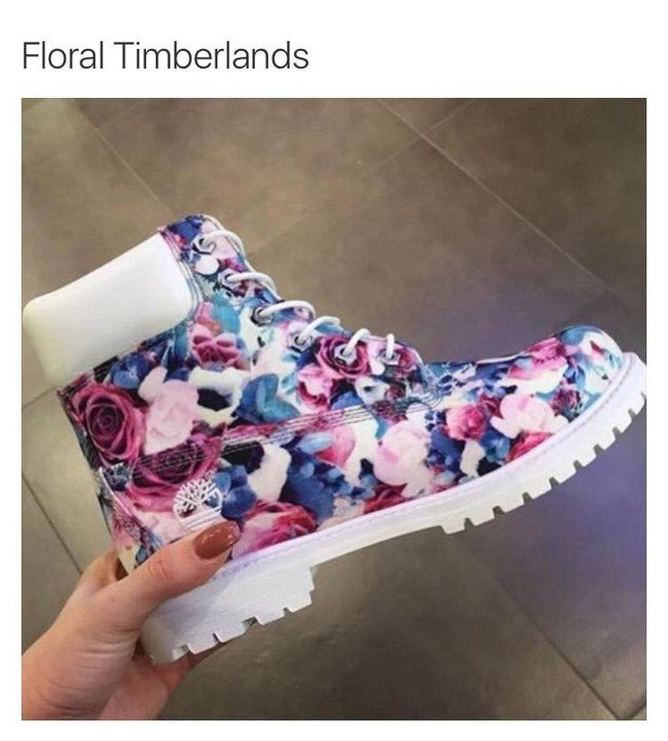 Floral Timberland Boots