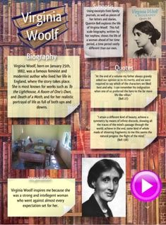 Adeline Virginia Woolf was an English writer and one of the foremost modernists of the twentieth century. #glogster #glogpedia #virginiawoolf