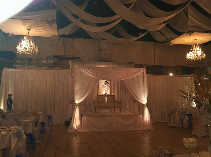 babyshower canopy and backdrop draping by rich event decor