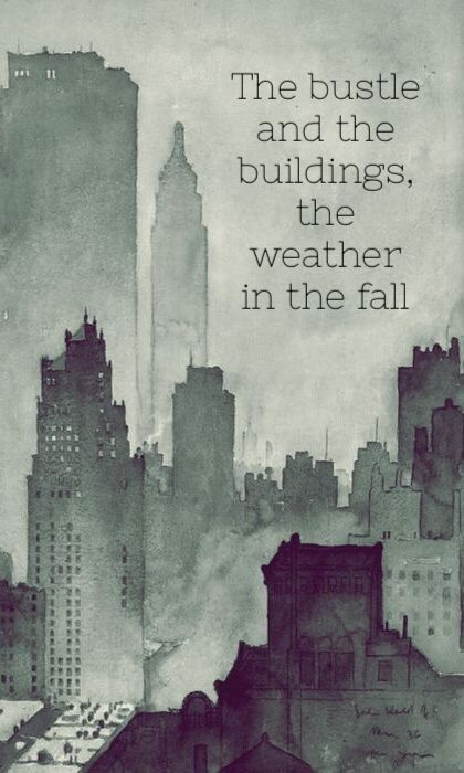 Beautiful Lyric Art for Manhattan! One of my favorite songs. Such an emotional punch live...