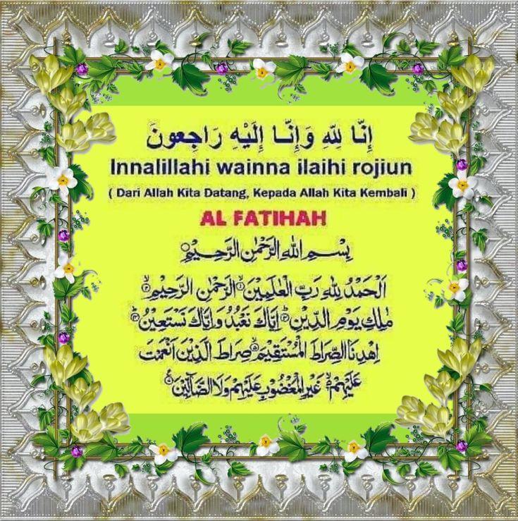 Salam Takziah Doa