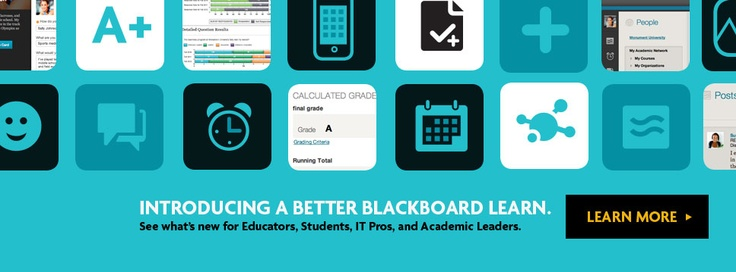 Introducing a better Blackboard Learn. See what's new for Educators, Students, IT Pros, and Academic Leaders. Learn more >