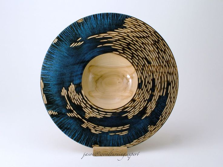 "Deep Blue, Diameter 12"" for sale www.woodturning.expert"