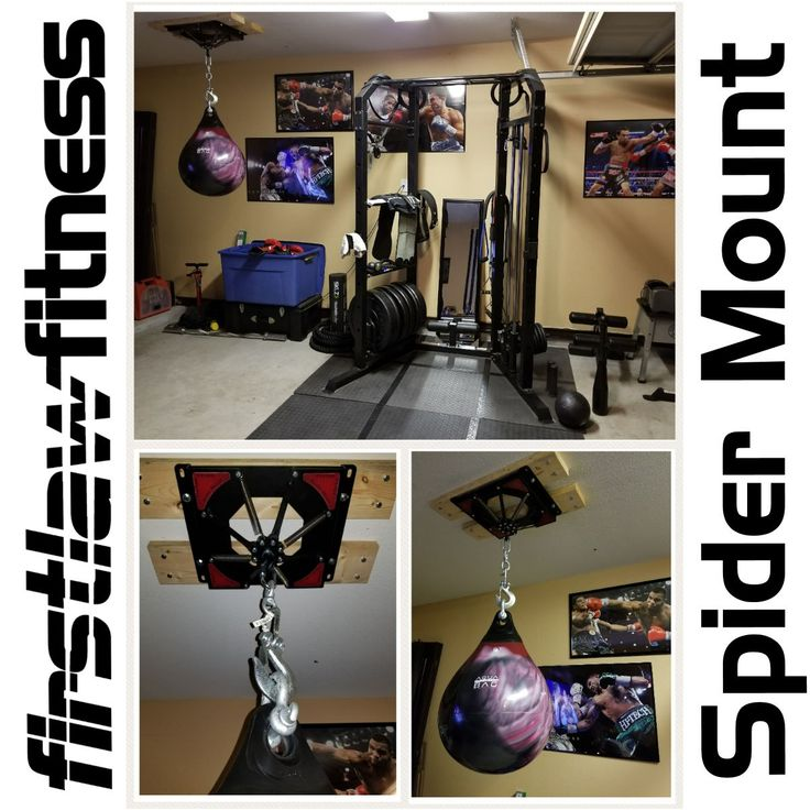 Heres A Great Looking Home Gym With Our Spider Mount The Is Quietest Heavy Bag You Can Buy Nothing Comes Close To Absorbing Noise And