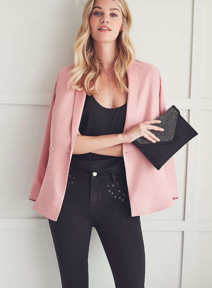 The 25  best Pink blazer outfits ideas on Pinterest | Womens ...