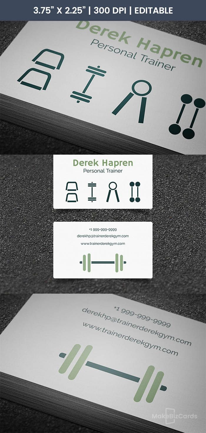 The Note Personal Training Business Cards Fitness Business Card Printing Business Cards