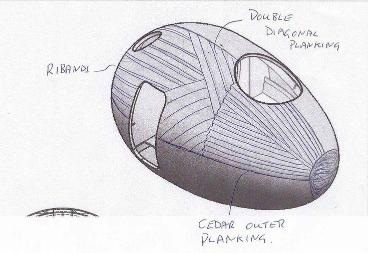 Exbury Egg / PAD studio + SPUD Group + Stephen Turner, Sketch