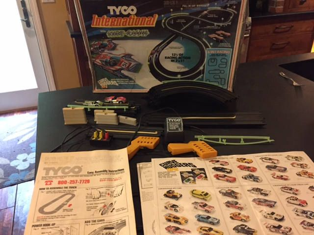 Vintage HO slot car set - 1979 Tyco International with Nite - Glow - works by KlaatusCloset on Etsy