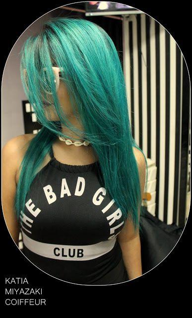 Katia Miyazaki Coiffeur - Salão de Beleza em Floripa: verde azulado - turquesa - cabelo colorido - hair ...