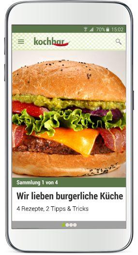 Screenshot kochbar-App für Android