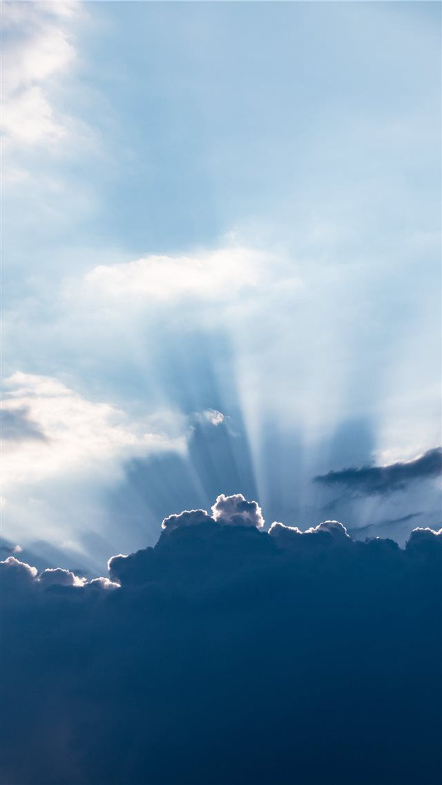 Sun Behind The Clouds Iphone 8 Wallpaper Download Iphone