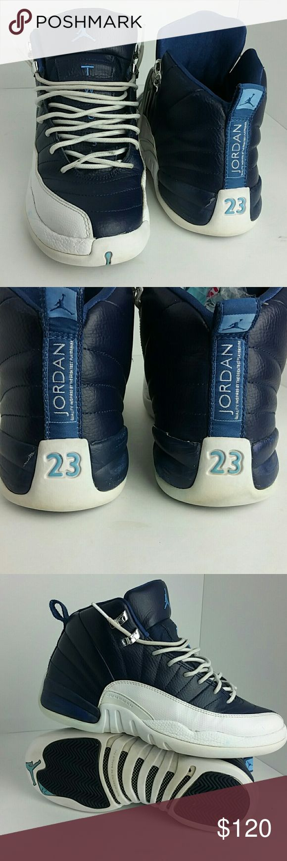 AIR JORDAN 12 RETRO WOMEN/YOUTH SHOES VERY CLEAN INSIDE-OUT   THIS IS A YOUTH SIZE 7Y WHICH IS WOMEN SIZE 8.5  SKE # BK Air Jordan Shoes Athletic Shoes