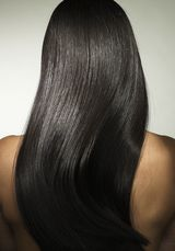 Wavy or curly hair becomes straight with Japanese straightening treatments.