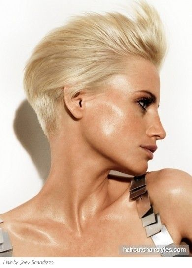 Sexy Short Slicked Back Hair Style