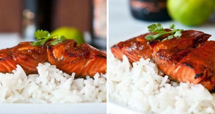 Salmone glassato allo sciroppo d'acero: la ricetta leggera e gustosa adatta anche per una cenetta romantica #sciroppodacero #ricette #salmone #foodconfidential http://bit.ly/salmone_FC Photo: thebeeroness.com