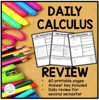 Daily Calculus Review {Limits, Derivatives, Integrals}
