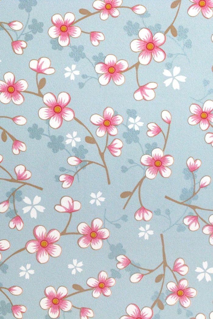 PiP Cherry Blossom Light Blue wallpaper | Traditional 2 | Wallpaper | PiP Studio