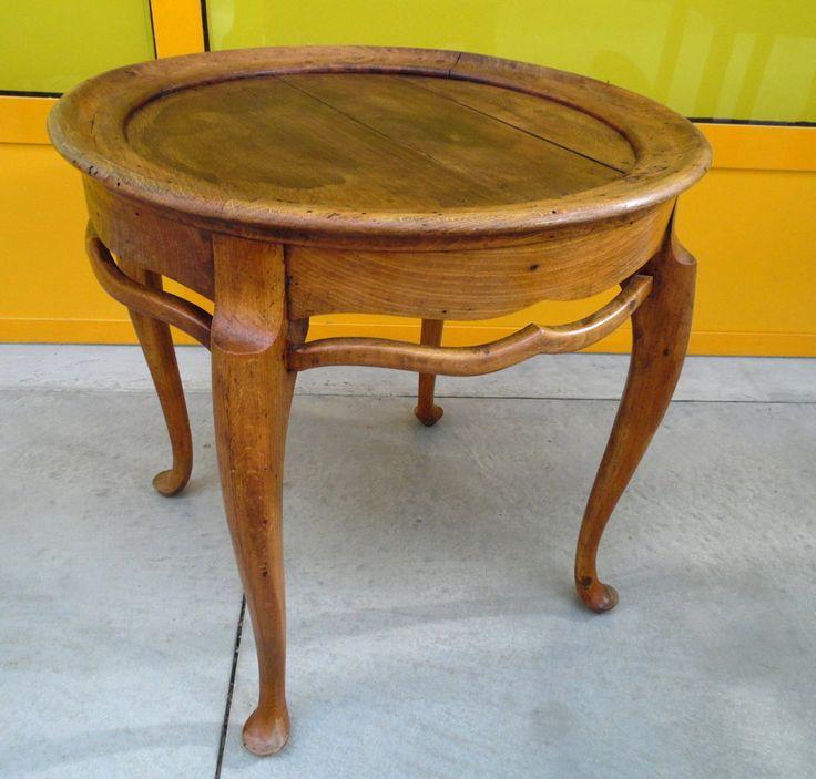 Tavolino da salotto provenzale primo '900 in rovere massello