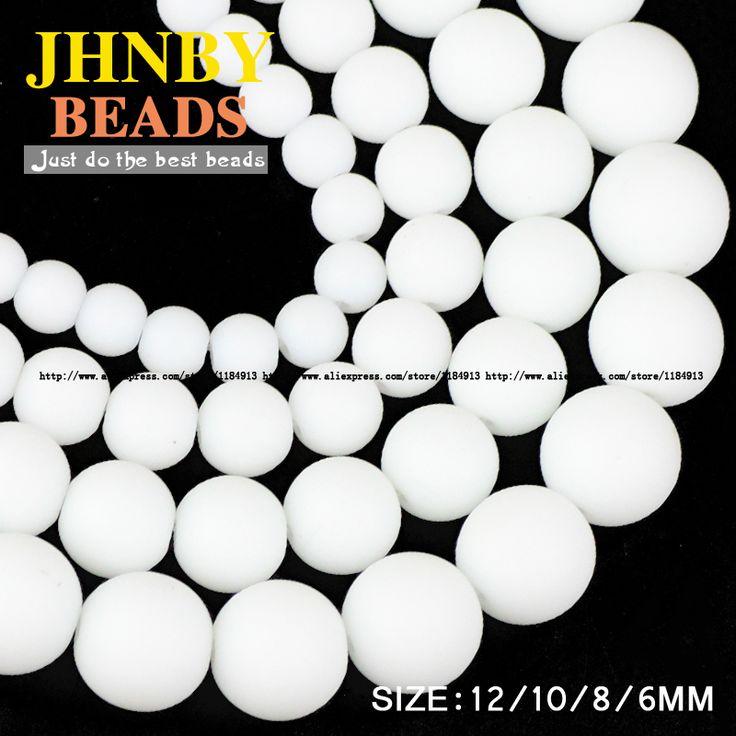 Aliexpress.com: Comprar JHNBY AAA Mate De Cerámica blanco cuentas de piedras Naturales Piedra Microlite bola Redonda 6/8/10/12 MM accesorios pulsera de la joyería que hace DIY de white stone beads fiable proveedores en JHNBY (Johan's Beads) Store