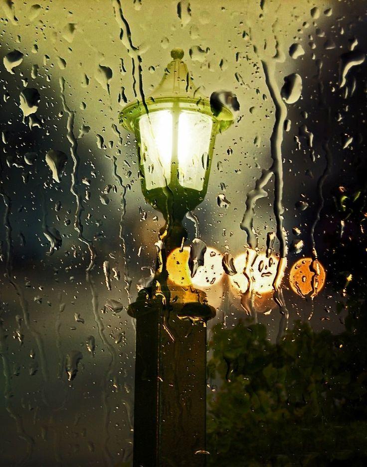 гифка дождь вечером это волнительное