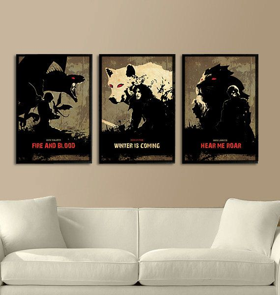 Games of Thrones Trilogy Poster Set 11X17 on Etsy, £24.54 need this!