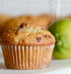 Muffin vegani benana e cioccolato