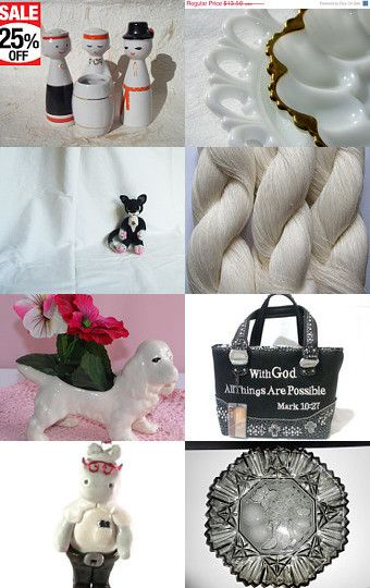 White . . . black and by Inita on Etsy--Pinned with TreasuryPin.com