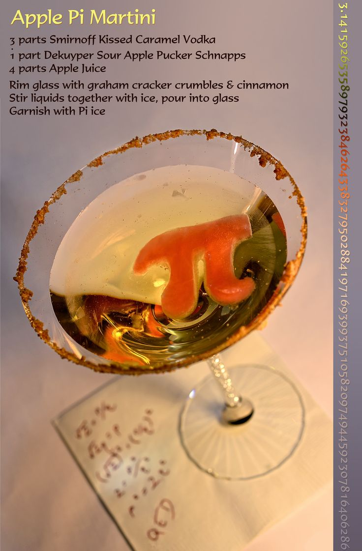 Apple Pi Martini for Pi Day | Cheers | Pinterest