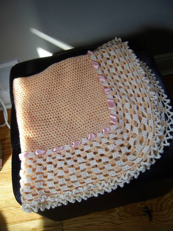 Crochet baby blanketnewborn infant / Gift/ by inspirebynancy, $60.00