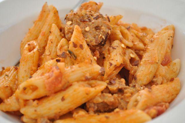 Creamy Sausage and Tomato Pasta   Food stuffs   Pinterest