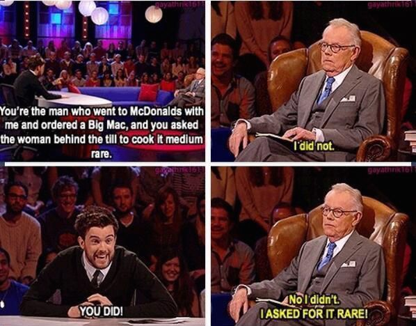 And then we met his dad and the story suddenly made perfect sense. | 19 Times Jack Whitehall Totally Out-Bantered Everyone