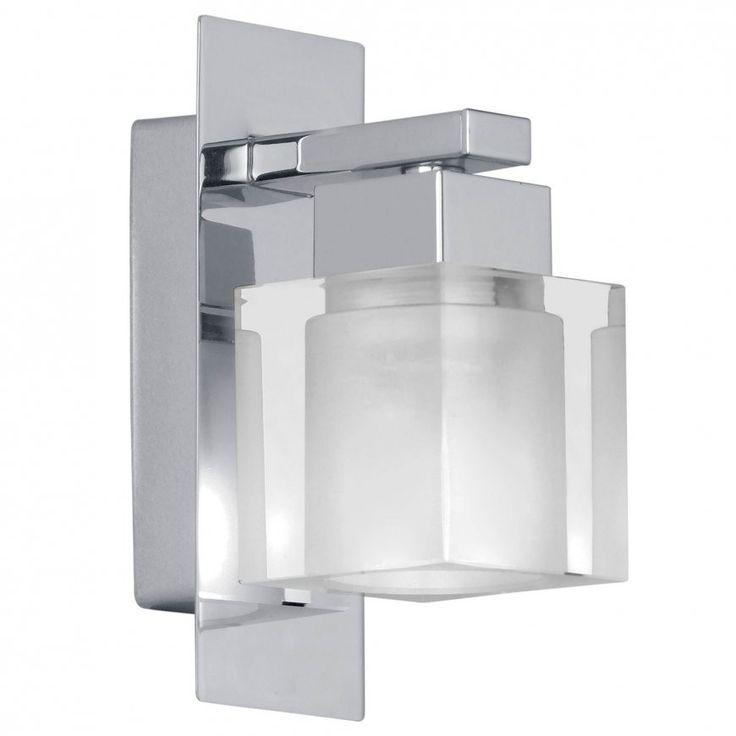 Sintra Chrome & Crystal Clear Glass Halogen Wall Light - 1 Light $35
