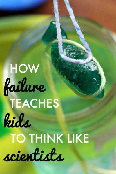 How failure can turn kids into scientists and learn perseverance. Plus: how to pick up ice with a string experiment!