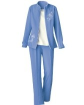 Women's Swann 3-Piece Embroidered Pants Suit
